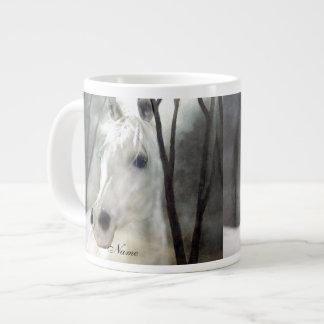 White Horse Large Coffee Mug