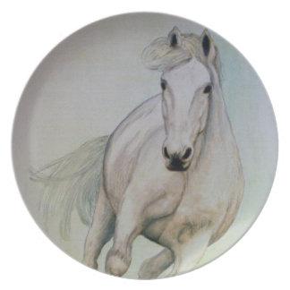 `White Horse' Melamine Plate