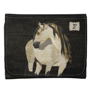 White Horse Monogram Wallet