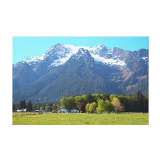 White Horse Mountain and Ranch Canvas Print