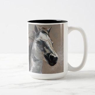 White Horse Mug