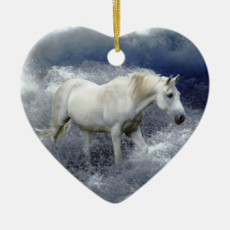 White Horse & Ocean Surf Ornaments