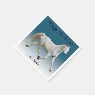 White Horse Paper Birthday Napkins Disposable Napkin