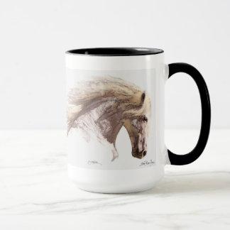 White Horse Pegasus Stallion Fine Art Mug