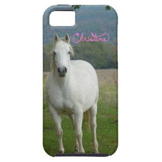 White horse Personalized Christina iPhone 5 Case