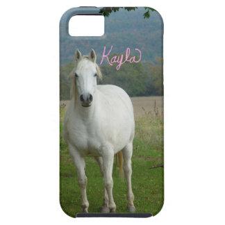 White horse Personalized Kayla iPhone 5 Case
