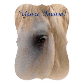White Horse Portrait Card