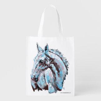 White Horse Reusable Grocery Bag