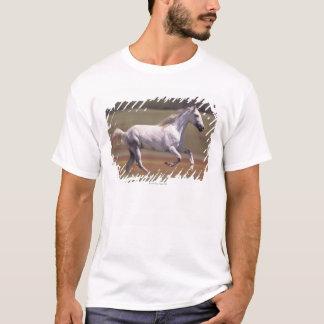 White horse running in field T-Shirt