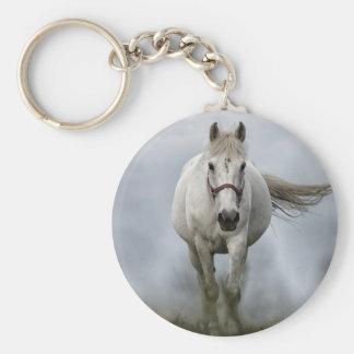 White Horse Running Keychain