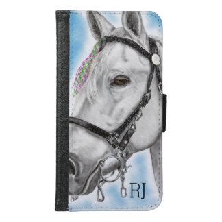 White Horse Samsung Galaxy S6 Wallet Case