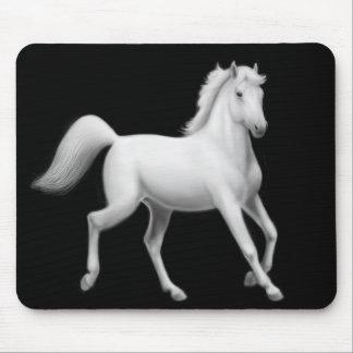 White Horse Trotting Mousepad