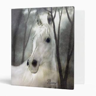 White Horse Vinyl Binder