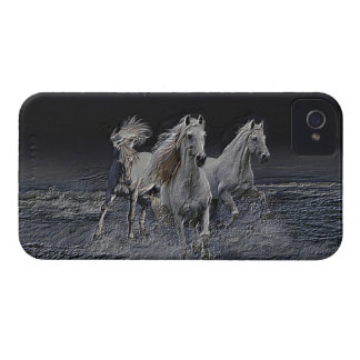White Horses iPhone 4 Cover