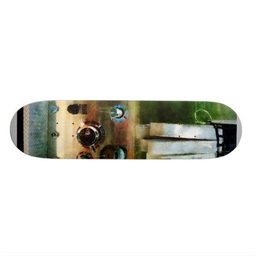 White Hose and Nozzles Skate Decks