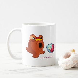 White Hotdogtopus Hotdog Cup Mug with Flying Egg