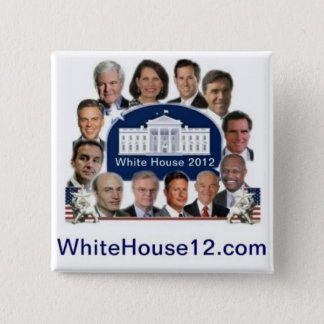 White House 2012 2 Inch Square Button