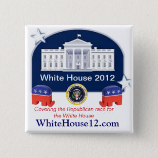 White House 2012 2 Inch Square Button
