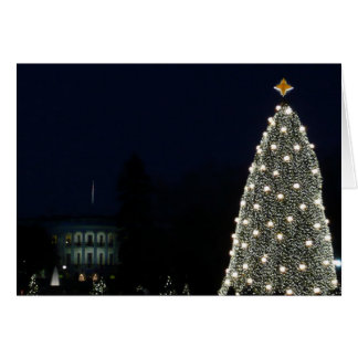 White House and National Tree Christmas Holiday DC Card