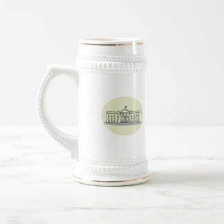 White House Building Oval Drawing Beer Stein