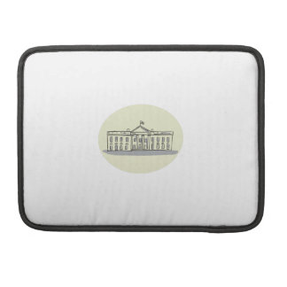 White House Building Oval Drawing Sleeve For MacBooks