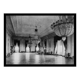 White House Chandeliers 1903 Poster