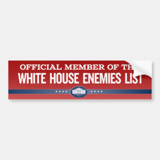 White House Enemies List Member Stickers