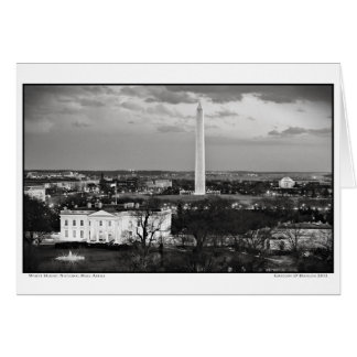 White House- National Mall- Aerial Card