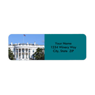 White House of the United States - Washington DC Return Address Label