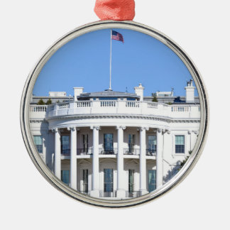 White House of the United States - Washington DC Silver-Colored Round Ornament