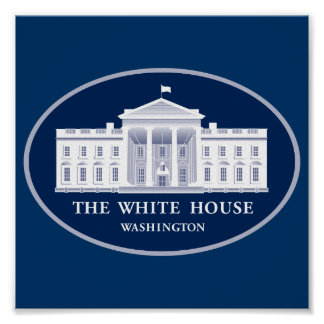 White House Press Conference Background Poster