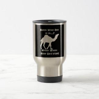 White Hump Day Camel 15 Oz Stainless Steel Travel Mug