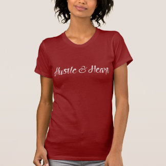 White Hustle and Heart Typography T-Shirt