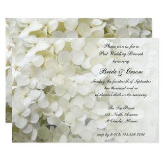 White Hydrangea Floral Post Wedding Brunch Invite