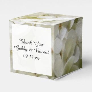 White Hydrangea Floral Wedding Favor Box