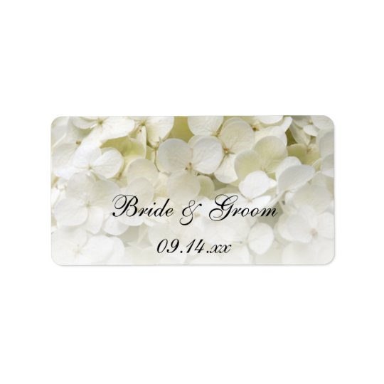 White Hydrangea Floral Wedding Favour Tags