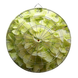 White Hydrangea flower background Dartboard