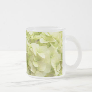 White Hydrangea flower background Frosted Glass Coffee Mug