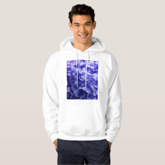 White Hydrangea flower background Hoodie