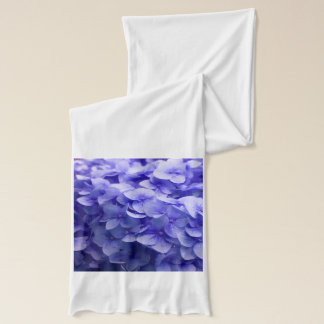 White Hydrangea flower background Scarf
