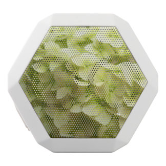 White Hydrangea flower background White Bluetooth Speaker