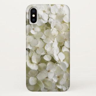 White Hydrangea Flowers iPhone X Case