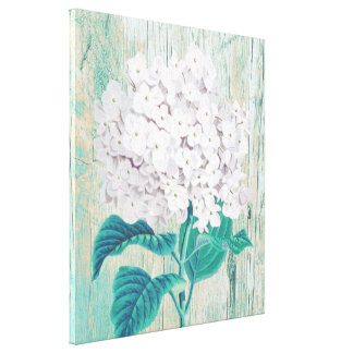 White hydrangea gallery wrapped canvas