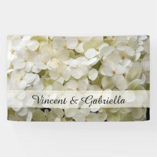 White Hydrangea Wedding Banner