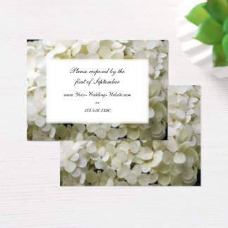 White Hydrangea Wedding RSVP Response Card