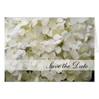 White Hydrangea Wedding Save the Date Announcement