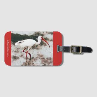 White Ibis Luggage Tag