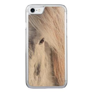 White Icelandic Horse face, Iceland Carved iPhone 7 Case