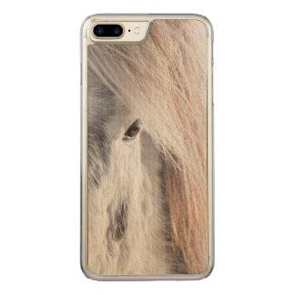 White Icelandic Horse face, Iceland Carved iPhone 7 Plus Case