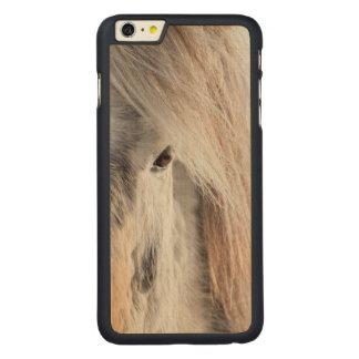 White Icelandic Horse face, Iceland Carved® Maple iPhone 6 Plus Case